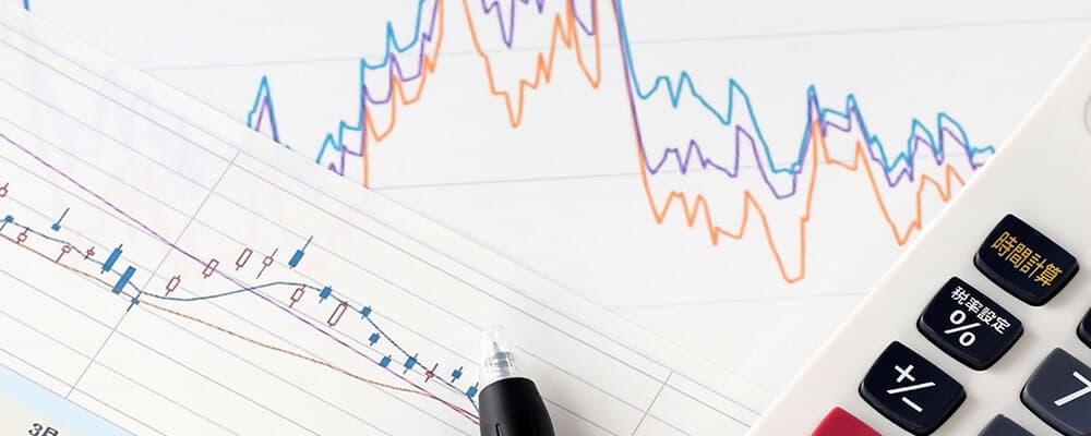 下落するファクタリング手数料のグラフ