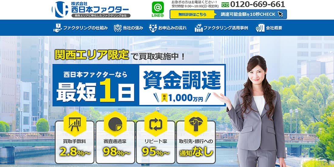 西日本ファクター(関西版)のスクリーンショット画像